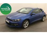 £179.99 PER MONTH 2008 METALIC BLUE VW SCIROCCO 2.0 TSI GT DSG COUPE PETROL AUTO