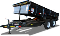 7X14 Dump trailer for rent or hire
