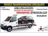 RECOVERY CAR TRANSPORT Wakefield Leeds Bradford