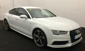 White AUDI A7 SALOON 3.0 TDI Diesel BLACK EDITION FROM £124 PER WEEK!