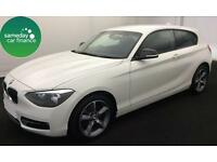 £197.60 PER MONTH WHITE 2012 BMW 116i 1.6 SPORT 3 DOOR PETROL MANUAL