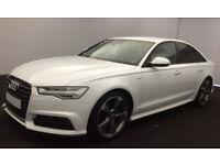 White AUDI A6 SALOON 2.0 3.0 TDI Diesel SPORTS LINE FROM £98 PER WEEK!