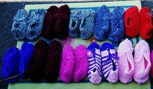 Hand Knitted Phentex Slippers Stratford Kitchener Area image 1