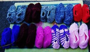 Hand Knitted Phentex Slippers
