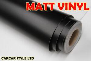 Black 【 MATT】 Vinyl Wrap Sticker 610mm x 1000mm