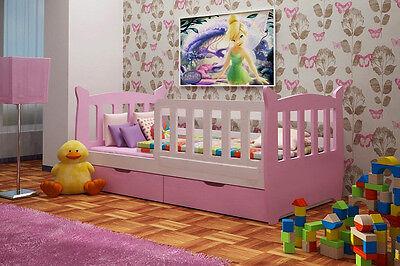 KITTY - Kinderbett Bett Kinderzimmer Holzbett mit Matratze