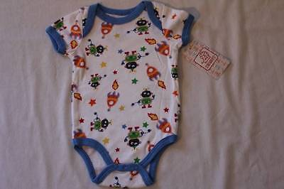NEW Baby Boys Bodysuit 0 - 3 Months Alien Space Creeper Outfit 1 Piece Rocket