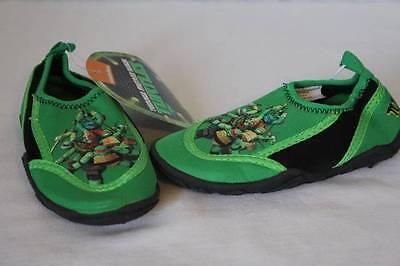 Ninja Turtles Shoes (NEW Toddler Boys Water Shoes Socks TMNT Medium 7 - 8 Ninja Turtles Pool)