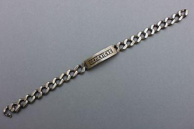 Schweres Gliederarmband mit graviertem Name - GENEVIEVE - , 1950er Jahre
