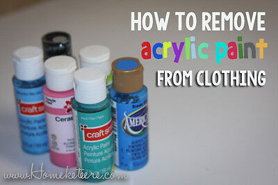 removing acrylic paint from clothing ebay