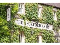 An excellent Commis needed for immediate start at The Beckford Arms