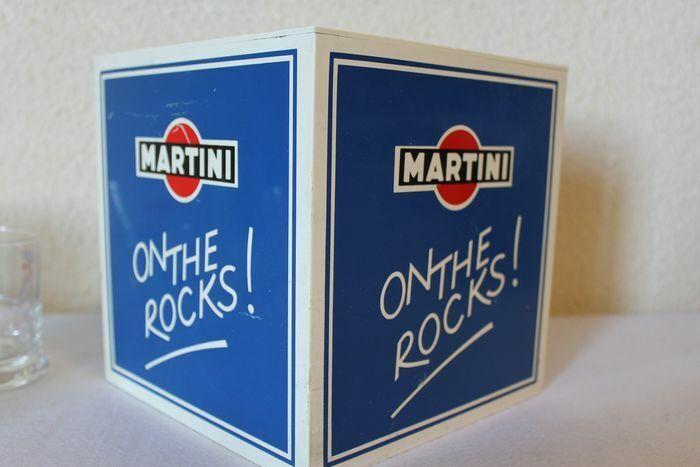 Martini bac a glacons et verres publicitaires martini