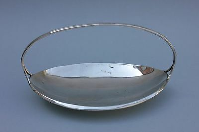 Versilberte Henkelschale, Design, 1950er Jahre, gestempelt Hoka