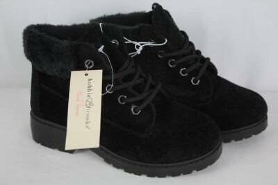 Girls Dressy Boots (NEW Girls Black Lace Up Boots Size 3 Winter Fashion Shoes Dressy Casual 1
