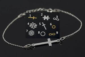 SILBER-ARMBAND-19cm-SILBER-925-CELEBRITY-Puzzle-Kreuz-Unendlichkeit-Infnity