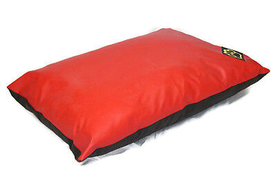 SMALL WATER RESISTANT RED  FAUX LEATHER S DOG BED PET BED DOGBED PETBED