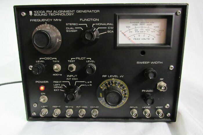 SOUND TECHNOLOGY ST-1000A FM DUAL SWEEP ALIGNMENT GENERATOR TRANSMITTER