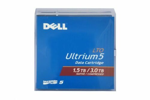 DELL 02H9YH LTO Ultrium-5 Data Tape Cartridge 0FHMTN NEW Sealed (5 Pack) 1.5/3TB