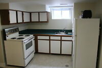 AVAIL. NOW- RENOVATED bright Bsmn't unit for *ONE QUIET* person