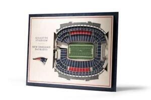New England Patriots 5 Layer Stadium View 3D Wall Art of Gillette Stadium (New)