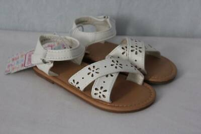 NEW Toddler Girls Sandals Size 9 White Summer Wedding Dressy Casual Shoes Flats](Girls Dressy Shoes)