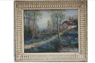 Landschaft mit Bauernhaus, signiert Alray - Impressionistenleiste