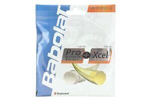 BABOLAT Pro Hurricane Tour 1.25mm/17G + Xcel 1.30mm/16G Hybrid Tennis String