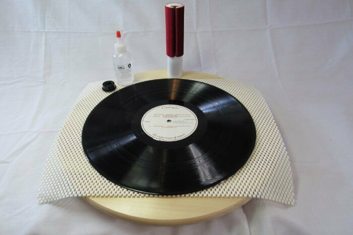 RECORD CLEANER KIT MK1 VACUUM W/ TURNTABLE ANTI STAT FLUID CLEANER & BRUSH WAND