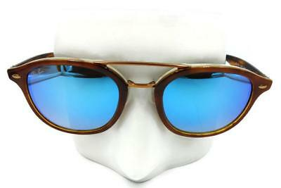 7a12885701 Ray-Ban Highstreet Tortoise Horn Blue Mirror Sunglasses RB2183 1128B7 53   210