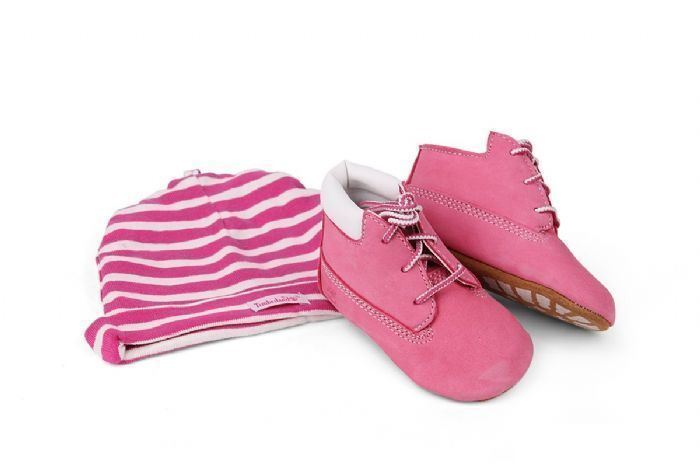 Timberland Kids Baby Infants  Boxed Gift Set Hat Shoes Pink  (9680R)