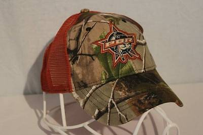 PBR Baseball Cap RealTree Camo Mesh Trucker Hat Professional Bull Riders (Camouflage Pro Mesh Cap)