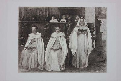 Wilhelm Rohr (1848-1907)  - Die Zisterzienser, 11 Original-Radierungen