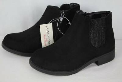 Girls Dressy Boots (NEW Youth Girls Black Ankle Boots Size 12 Zip up Fashion Shoes Dressy)