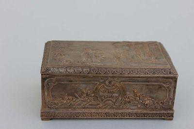 Delettrez Esora Paris Parfüm Kästchen Box mit mythologischer Szene, um 1910