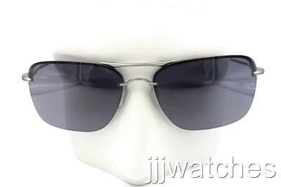 New Oakley Tailback Lead Semi-Rimless Aviator Gray Sunglasses OO4109-06 (Semi Rimless Aviator Sunglasses)