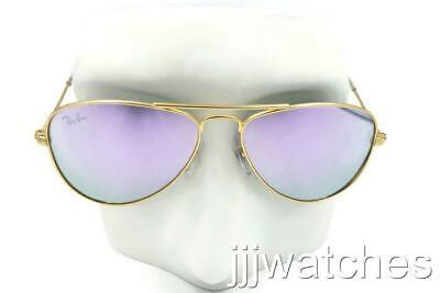 New Ray Ban Aviator Junior Gold Sunglasses Purple Mirror RJ9506S 249/4AV 50 (Aviator Junior)