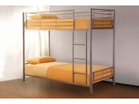 ☀️☀️EASY TO ASSEMBLE☀️☀️METAL BUNK BED SINGLE BOTTOM AND TOP STANDARD 3FT SIZE BUNK BED