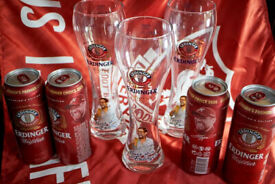 Official Jurgen Klopp limited edition Erdinger Weissbeer Beer Glass English Version Liverpool FC LFC