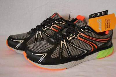 NEW Mens AVIA Tennis Shoes Size 9 1/2 Gray Orange Athletic Sneakers Running ()