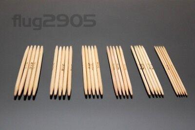Bambusstricknadeln Größe 4,5mm gerade 35cm Bambus Stricknadel Holz kaufen Natur