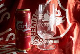 Carlsberg Liverpool FC Champions 2020 onwards pint beer glass lfc gift