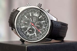 Aviator World Time Pilot Chronograph Watch