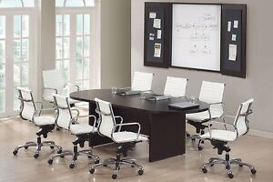 New Amber 8' Racetrack Conference/Boardroom/Meeting Room Office Table