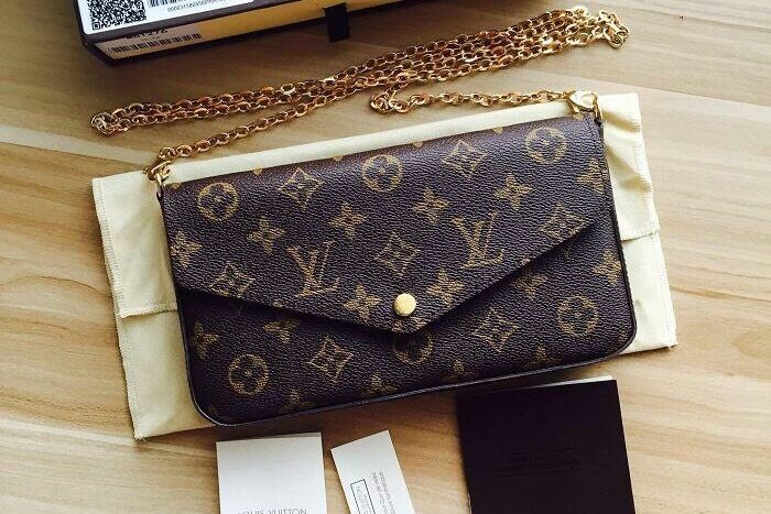 Top quality! Louis Vuitton Pochette Felicie Clutch  WOC  Evening Bag ... 5a57a7936f4