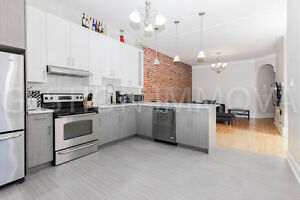 GRAND PENTHOUSE 4.5, STYLE LOFT, MUR DE BRIQUE, MILE-END