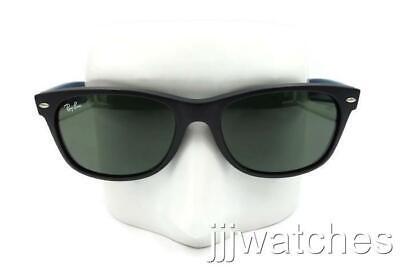 Ray Ban New Wayfarer Bicolor Green Lens Black Sunglasses RB2132 6182 (Ray Ban Color Sunglasses)