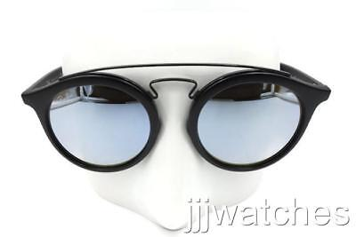 d2c5a496472 New Ray-Ban Gatsby II Black Silver Gradient Flash Sunglasses RB4256 6253B8  49