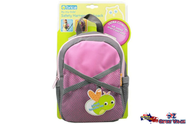 Kid Ultra Comfort Brica By My Side Pink Safety Harness Backpack Bag 60011