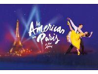 An American in Paris @Dominion Theatre x 4 tickets