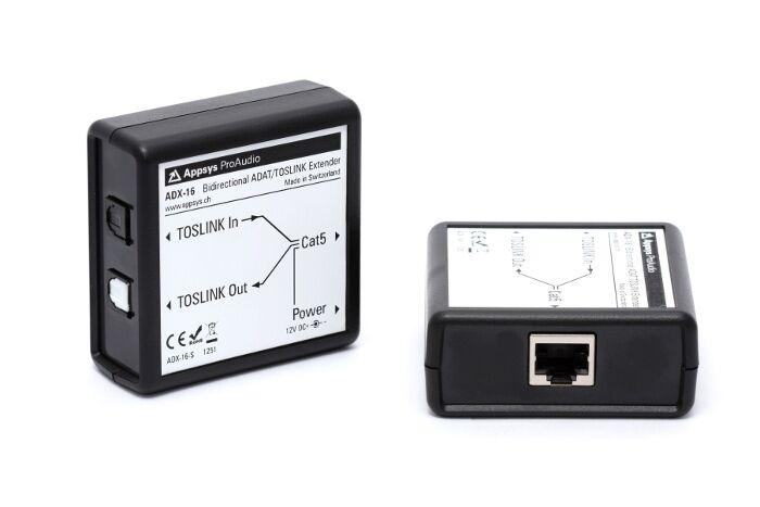 Bidirectional ADAT Extender Appsys ProAudio ADX-16
